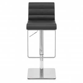 Chaise de Bar Cuir Chrome - Riva