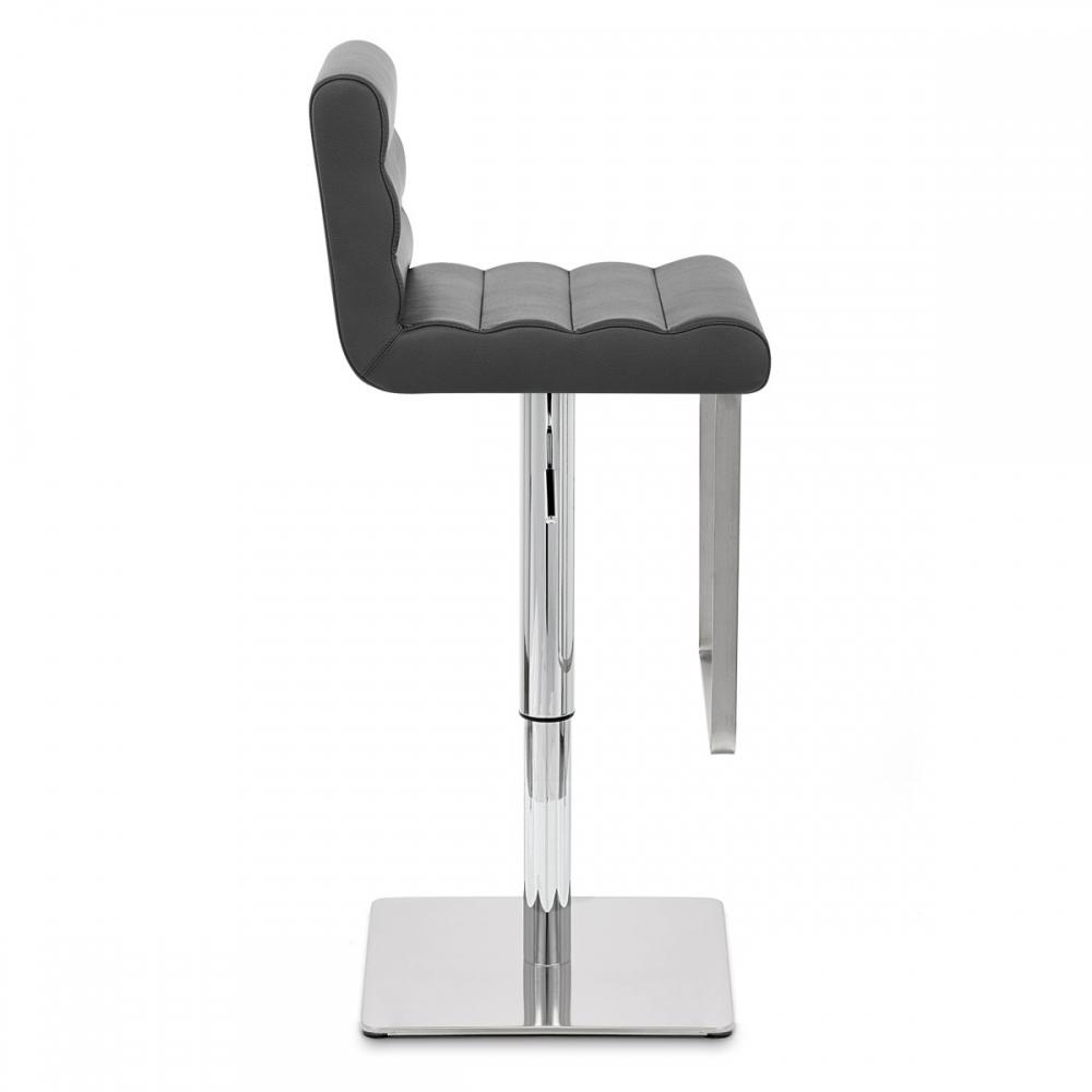 tabouret de bar cuir riva chrome monde du tabouret. Black Bedroom Furniture Sets. Home Design Ideas