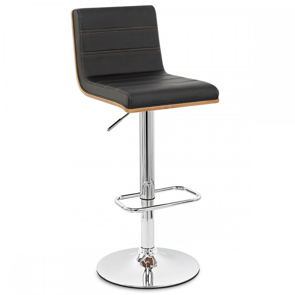 chaise de bar bois chrome riviera monde du tabouret. Black Bedroom Furniture Sets. Home Design Ideas
