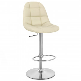 Chaise de Bar Faux Cuir Chrome Brossé - Rochelle