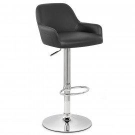 Chaise de Bar Faux Cuir Chrome - Sassi