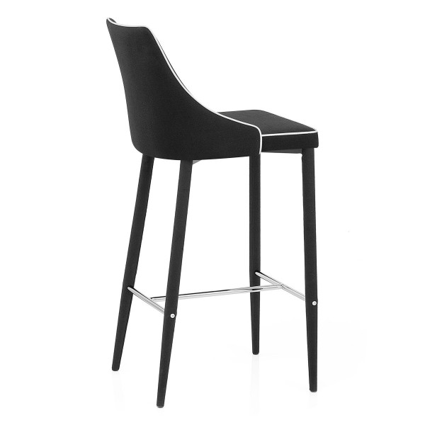chaise de bar en tissu shelby monde du tabouret. Black Bedroom Furniture Sets. Home Design Ideas