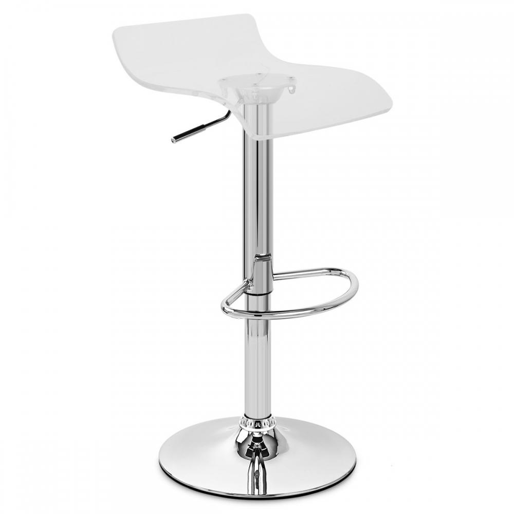 Chaise de bar plastique shimmer monde du tabouret - Tabouret bar plastique ...
