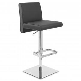 Chaise de Bar Cuir Chrome - Siena