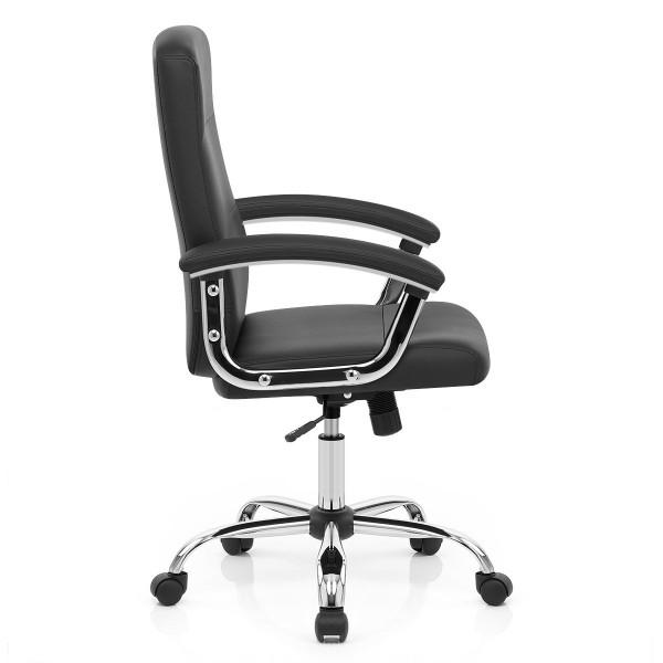 Chaise de Bureau Faux Cuir - Stanford Noir