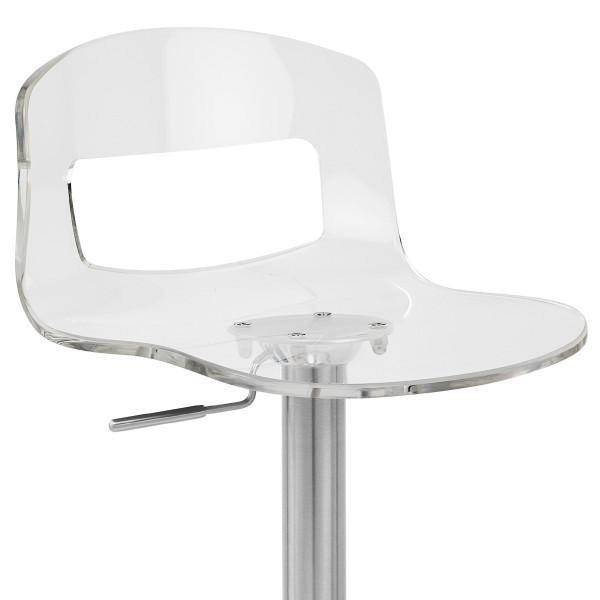 Chaise de Bar Plastique Chrome Brossé - Stardust