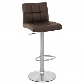 Chaise de Bar Cuir Chrome Brossé - Starz