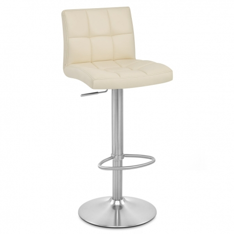 Chaise De Bar Cuir Chrome Bross Starz Monde Du Tabouret