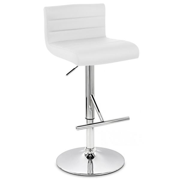 Chaise de Bar Faux Cuir Chrome - Style