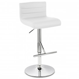 Chaise de Bar Faux Cuir Chrome - Style