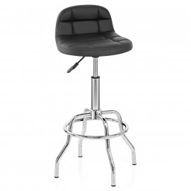 Chaise de Bar Faux Cuir Chrome - Summit