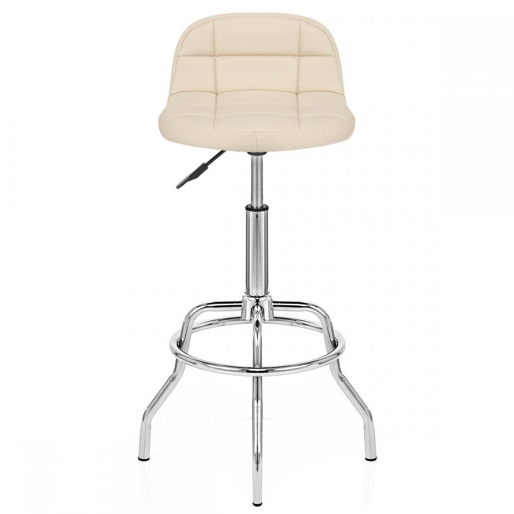Tabouret de bar chrome summit monde du tabouret - Chaise de bar cuir ...