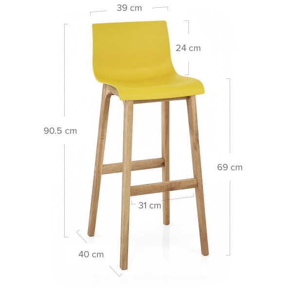 tabouret de bar jaune