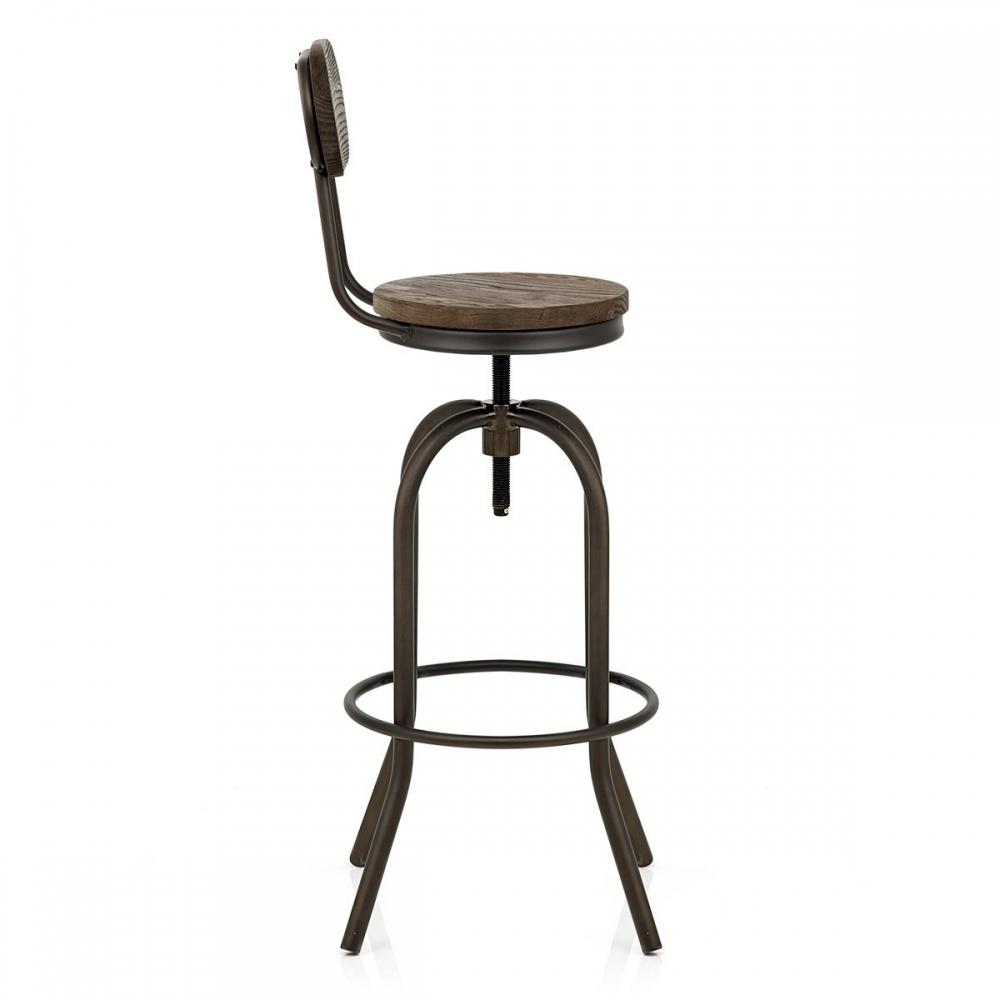 Chaise De Bar Bois Vintage Swivel Monde Du Tabouret