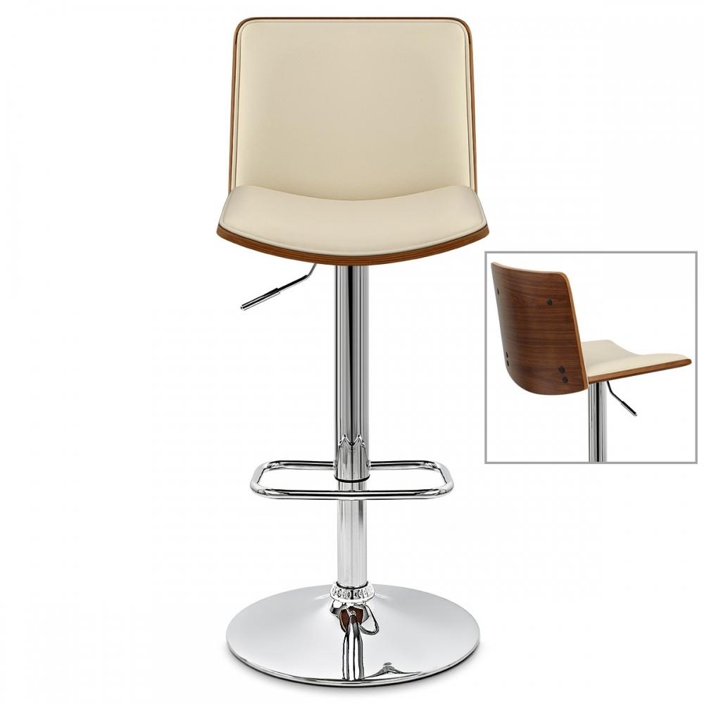 chaise de bar bois et faux cuir dusk monde du tabouret. Black Bedroom Furniture Sets. Home Design Ideas