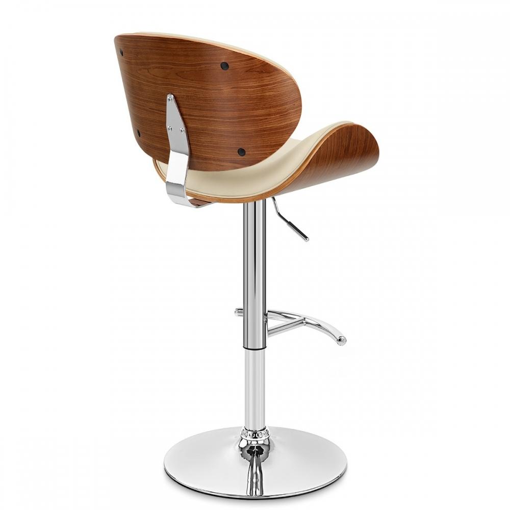 tabouret de bar chrome bois th o monde du tabouret. Black Bedroom Furniture Sets. Home Design Ideas