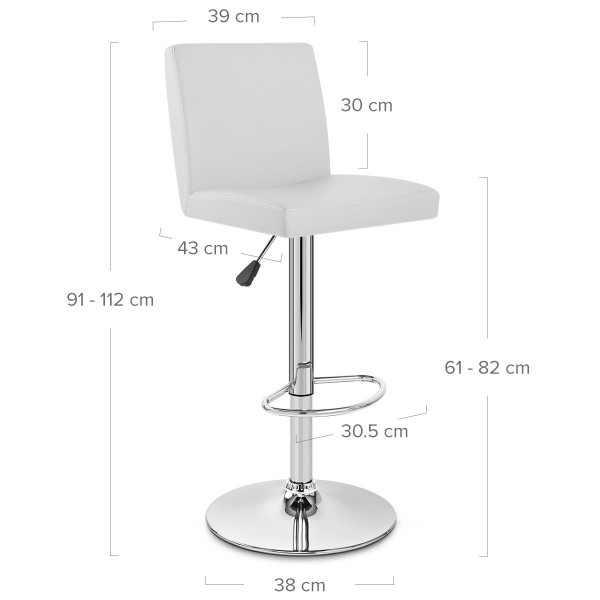 Chaise de Bar Faux Cuir Chrome - Topaz