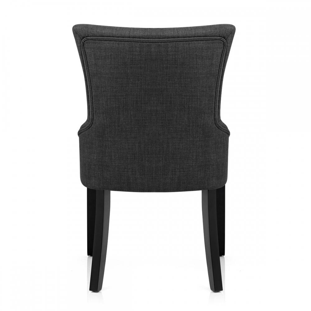 Chaise en tissu et bois noir verdi monde du tabouret for Chaise bois noir