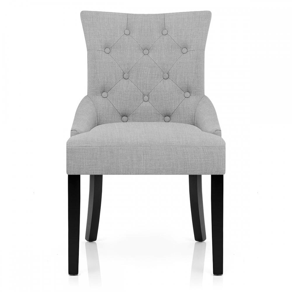 Chaise en tissu et bois noir verdi monde du tabouret - Chaise tissu noir ...