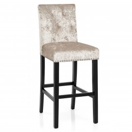 Tabouret Bois Velours - Barrington