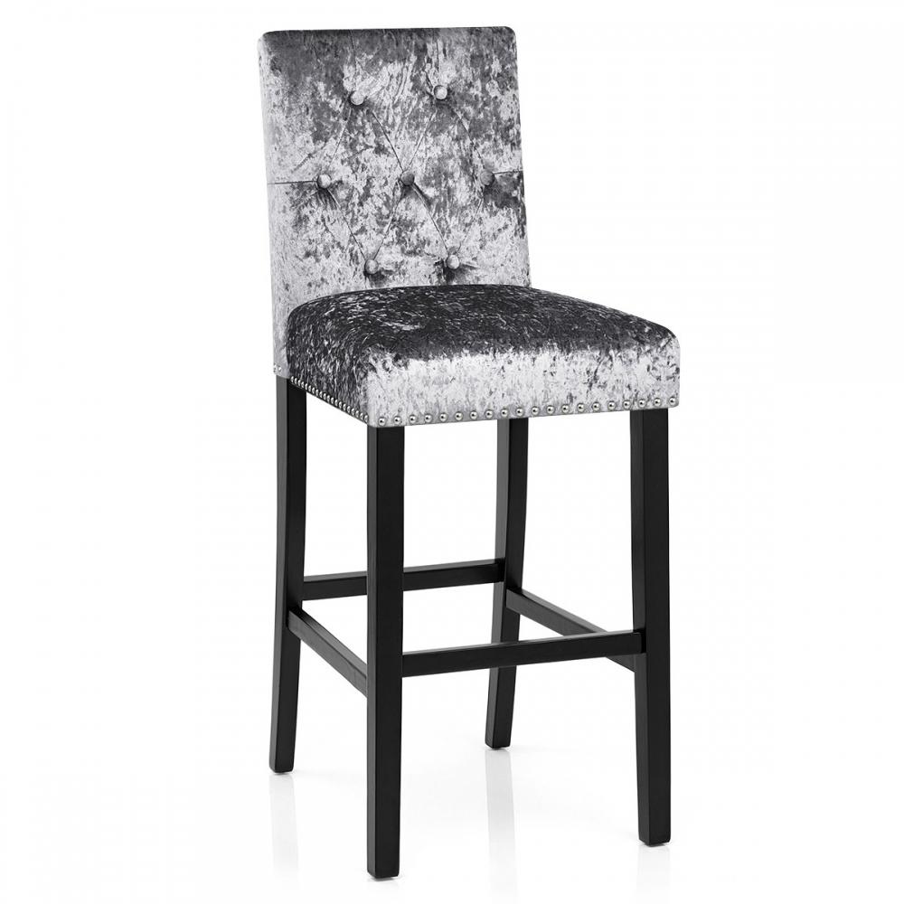 Chaise de bar velours barrington monde du tabouret - Le monde du tabouret ...