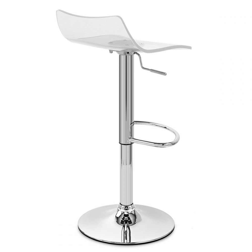 chaise de bar acrylique chrome crystal monde du tabouret. Black Bedroom Furniture Sets. Home Design Ideas