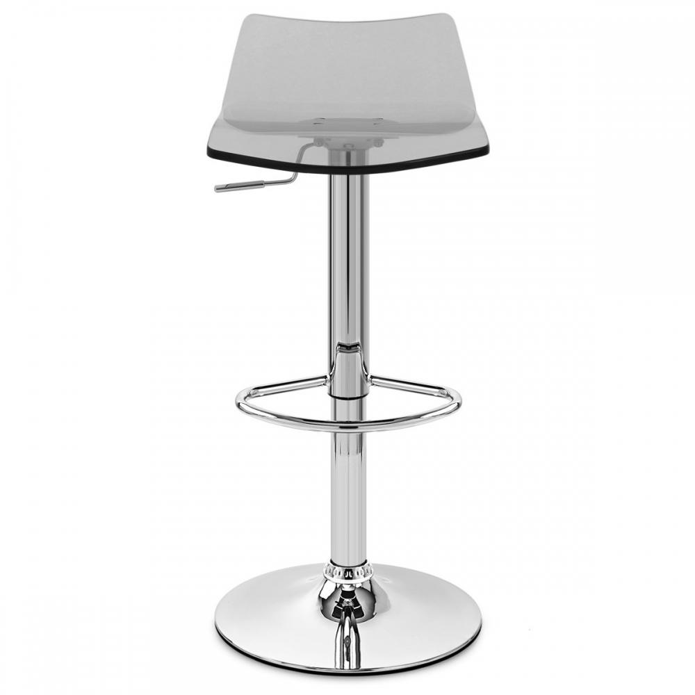 Chaise de bar acrylique chrome crystal monde du tabouret for Chaise en acrylique