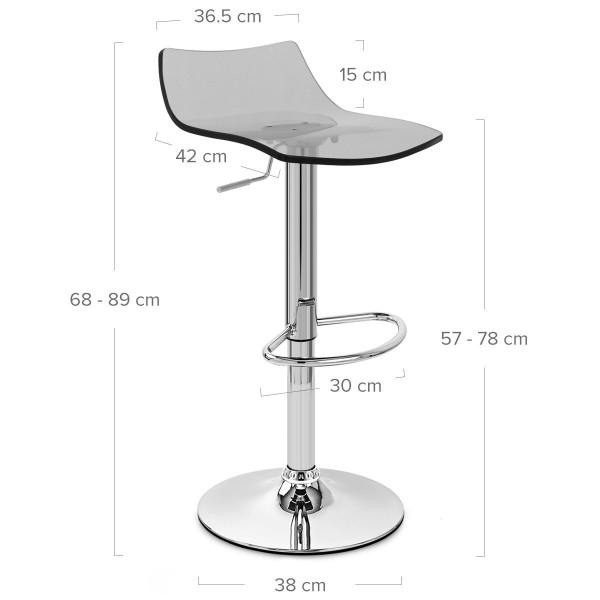 Chaise de Bar Acrylique Chrome - Crystal