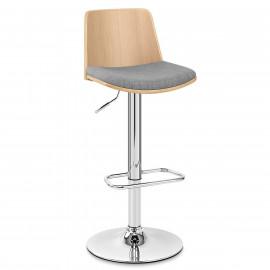 Chaise de Bar Bois Tissu - Crest