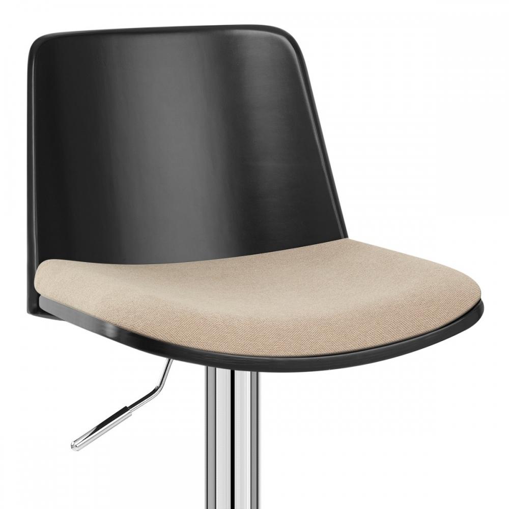 chaise de bar tissu crest monde du tabouret. Black Bedroom Furniture Sets. Home Design Ideas