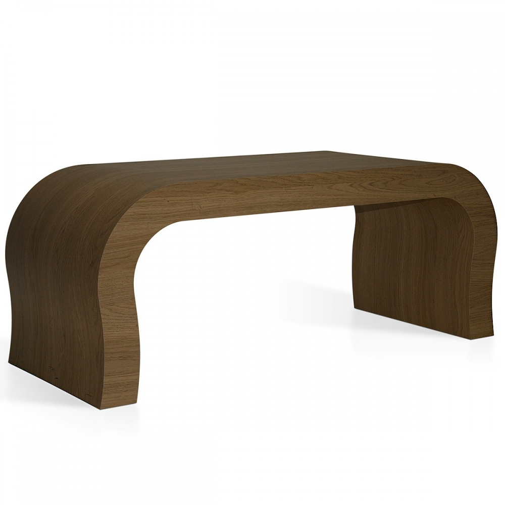 table basse en ch ne curved monde du tabouret. Black Bedroom Furniture Sets. Home Design Ideas