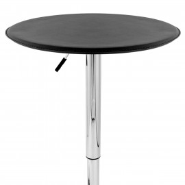 Table de Bar Faux Cuir Chrome - Donna