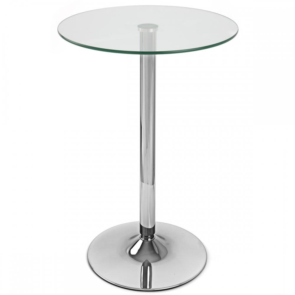 Table De Bar Vetro Ronde Monde Du Tabouret