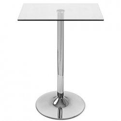 Table de Bar Chrome - Vetro Carrée