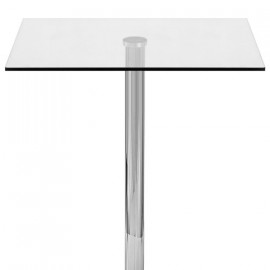 Table de Bar Chrome - Vetro Carrée