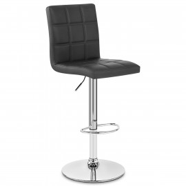 Chaise De Bar Faux Cuir Chrome