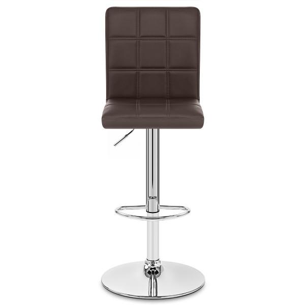 Chaise de Bar Faux Cuir Chrome - Criss Cross