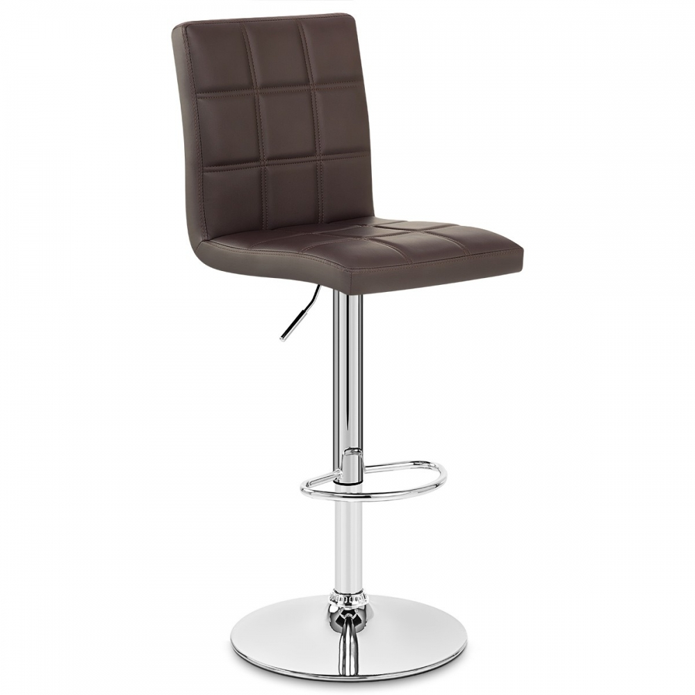 Chaise de bar faux cuir criss cross monde du tabouret - Chaise de bar en cuir ...
