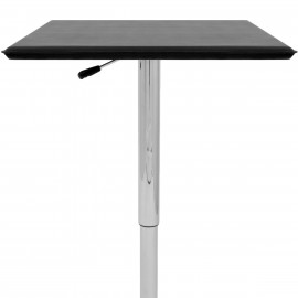 Table de Bar Faux Cuir Chrome - Rebecca