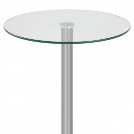 Table de Bar Chrome Brossé Verre - Vetro