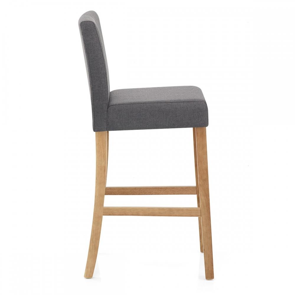 Chaise de bar bois et tissu cornell monde du tabouret for Des chaises