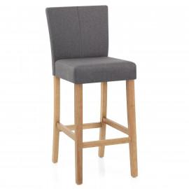 Chaise de bar tissu bois drift monde du tabouret - Tabouret de bar bistrot bois ...