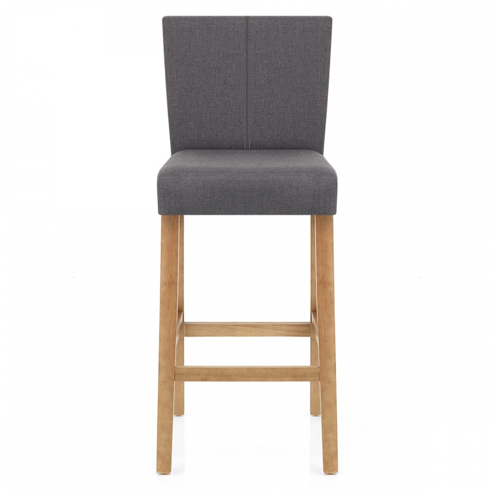 Chaise de bar Bois et Tissu Cornell - Monde Du Tabouret