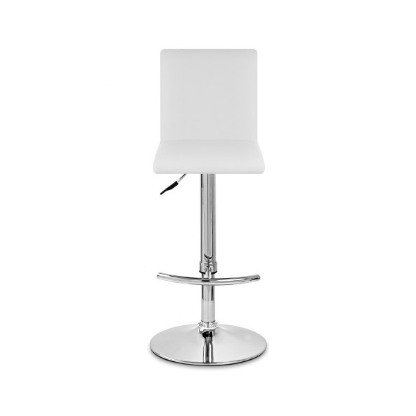 Chaise de Bar Faux Cuir Chrome - Deluxe High Back