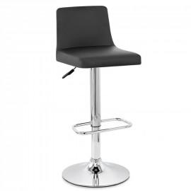 Chaise de Bar Faux Cuir Chrome - Plaza