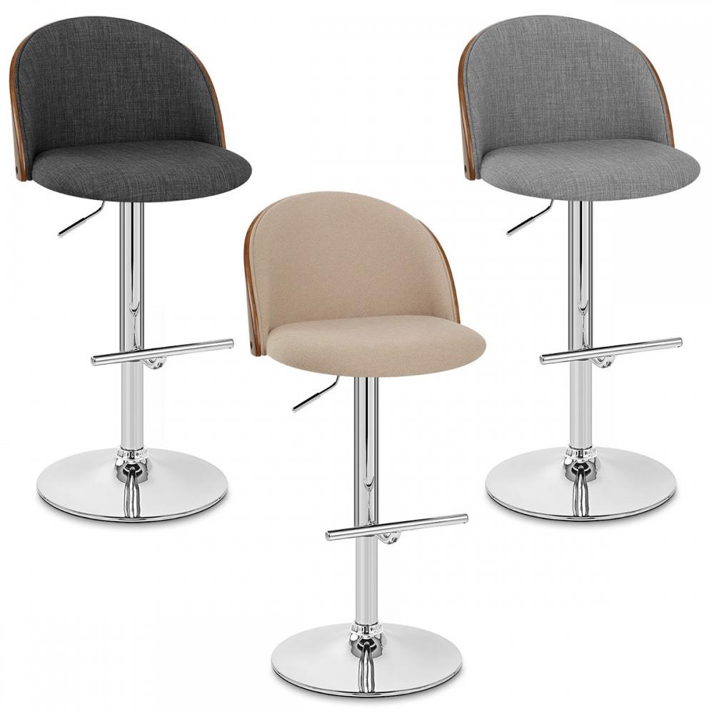 chaise de bar bois tissu focus monde du tabouret. Black Bedroom Furniture Sets. Home Design Ideas