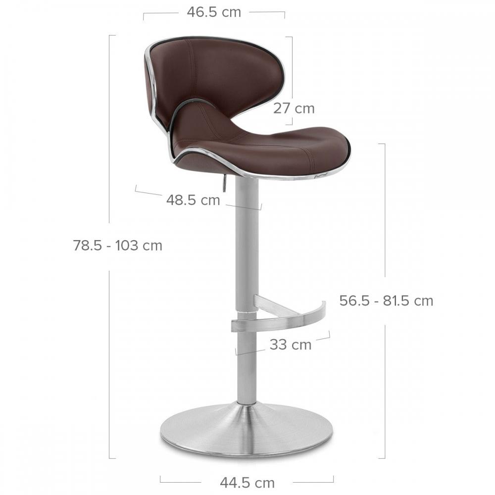 Chaise De Bar Cuir Chrome Brosse