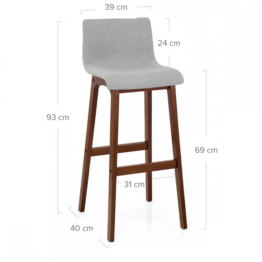 chaise de bar tissu bois drift noyer monde du tabouret. Black Bedroom Furniture Sets. Home Design Ideas