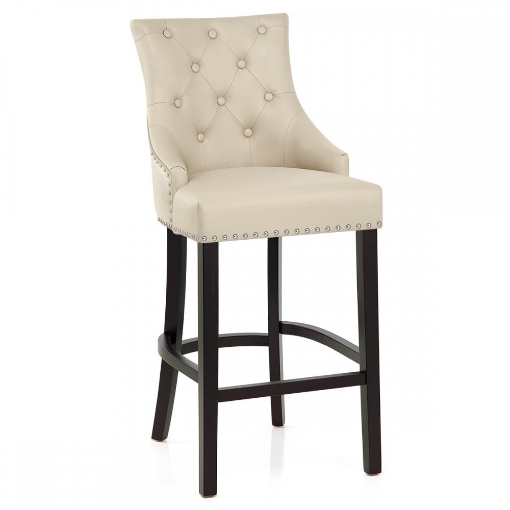 Chaise de bar bois cuir ascot monde du tabouret - Chaise de bar cuir ...