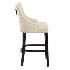 Chaise de Bar Bois Cuir Croûté - Ascot